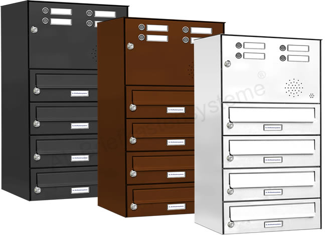 briefkasten anlage mit klingel sprechanlage pulverbeschichtet analog ebay. Black Bedroom Furniture Sets. Home Design Ideas